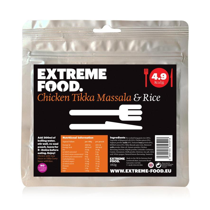 Extreme Food Chicken Tikka Masala with Rice, dried expedition food pack