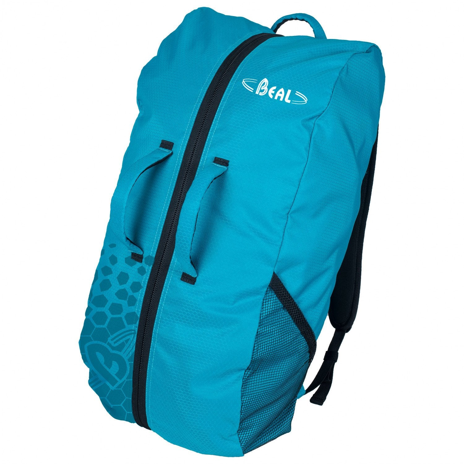 Beal Combi Rope Bag, shown closed and upright in Turquoise colour