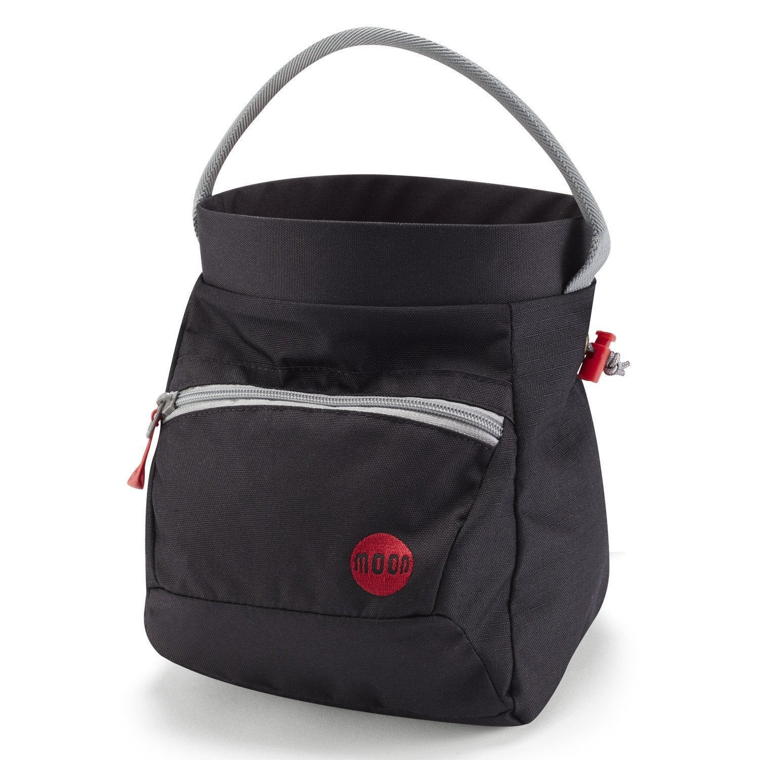 Moon Deluxe Bouldering Chalk Bag, in Black