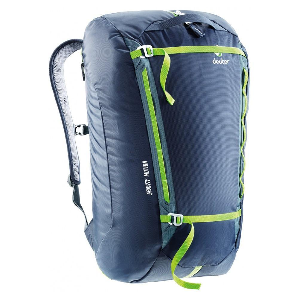 Deuter Gravity Motion 35 rucksack in black and green colours
