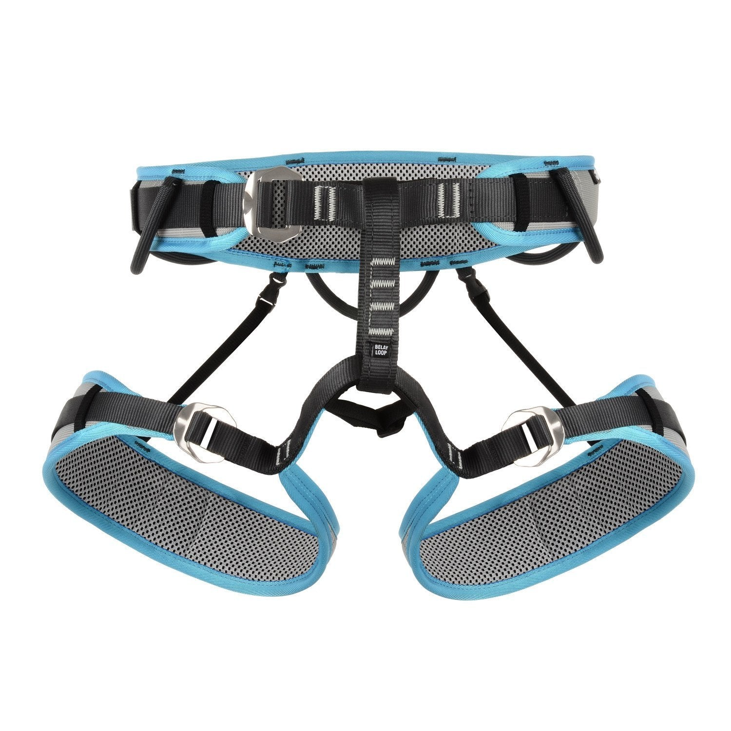 DMM Vixen Womens Harness in black, blue and grey colours