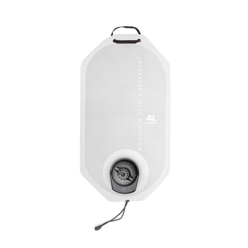 MSR DromLite 4 Litre camping water storage container, in white colour