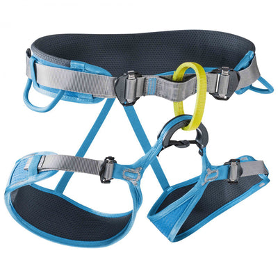 The Edelrid Duke II Harness from Edelrid is a super versatile, super comfortable, fully adjustable all-round harness for long days; on both rock, ice or winter routes.