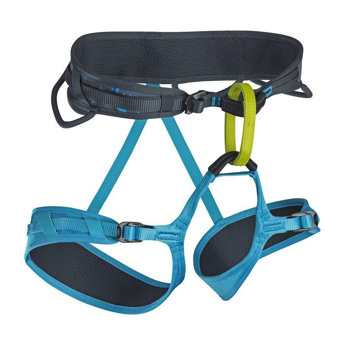 Edelrid Eleve Womens Harness, in black, blue and green colours