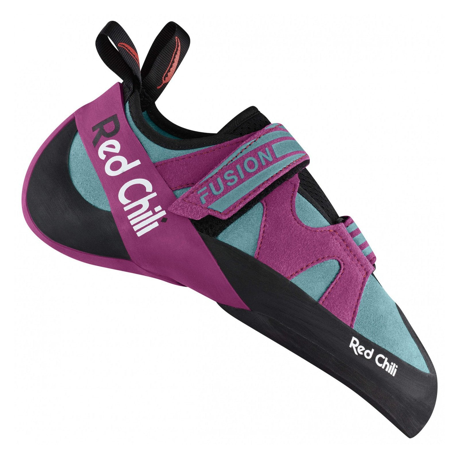 Red Chili Fusion VCR Womens climbing shoe, in black, purple and grey colours