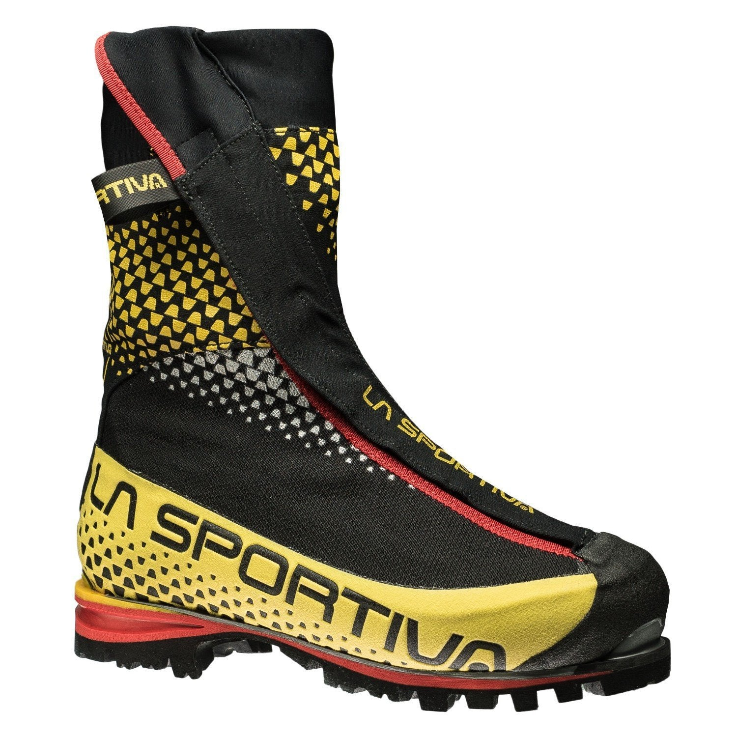 La Sportiva G5 Mountaineering Boot, in black, yellow and red colours