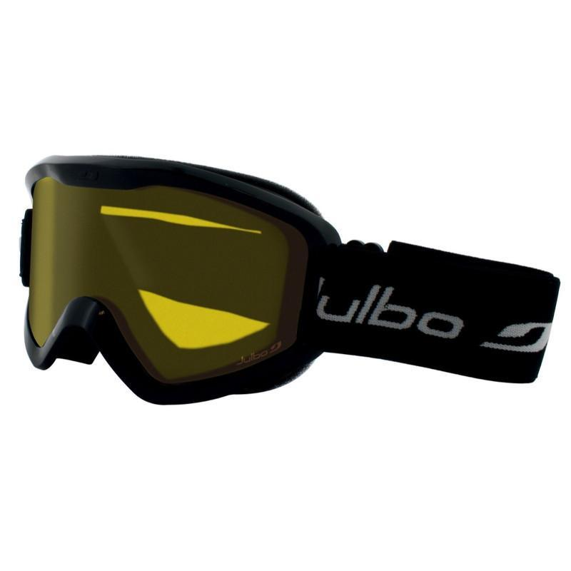 Julbo Plasma Cat 1 outdoor Goggles in black/yellow, front/side on view