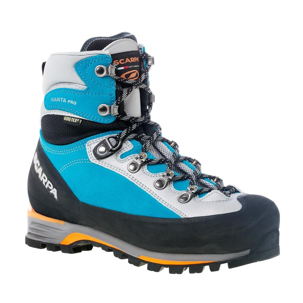 Scarpa Manta Pro GTX womens Mountaineering Boot, in black and blue colours