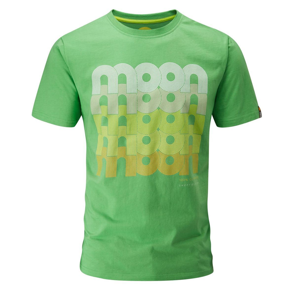 Moon Campus Fade Logo T-Shirt in Green