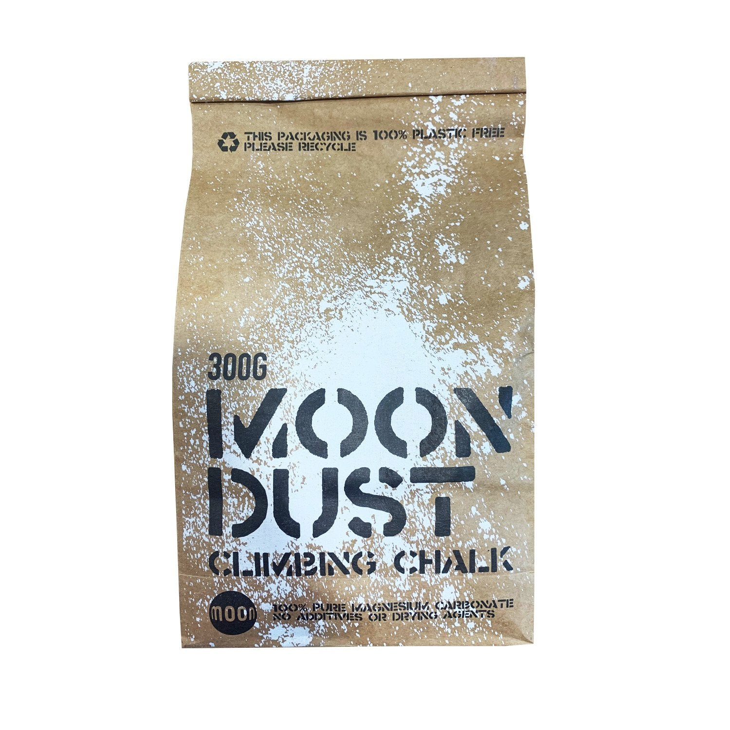 Moon Dust Climbing Chalk (300g) in recyclable paper packaging