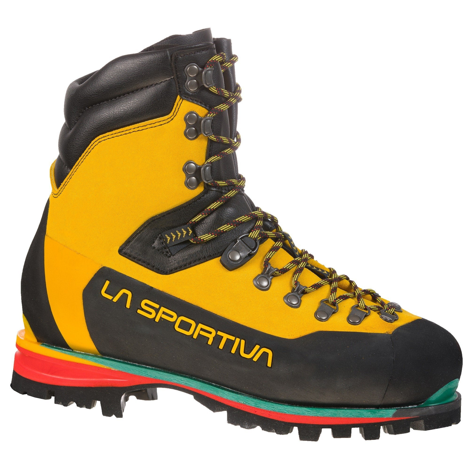 Side of La Sportiva Nepal Extreme in Black & Yellow