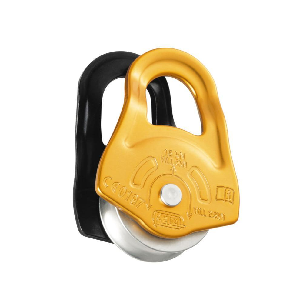 Petzl Partner Pulley, in gold colour