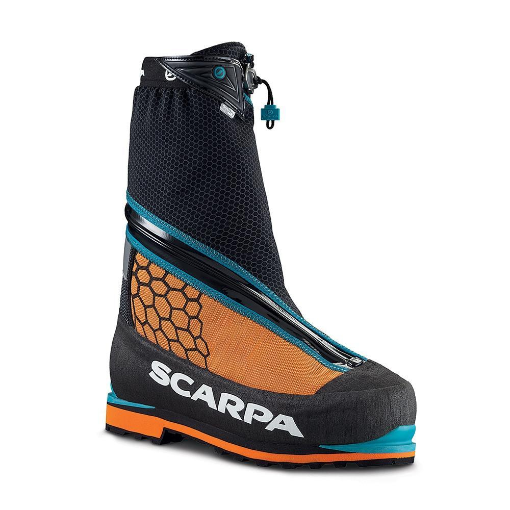 Scarpa Phantom 6000 Mountaineering Boot, in black and orange colours