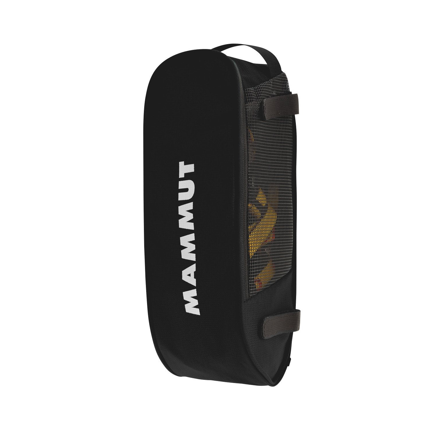 Mammut Crampon Pocket, front/side view shown in black colour