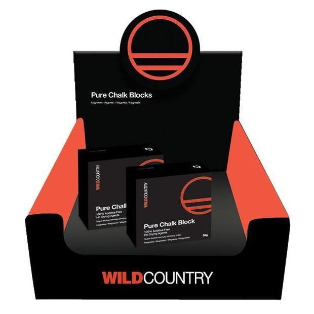 Wild Country Pure climbing chalk blocks, showing 2 blocks in a box