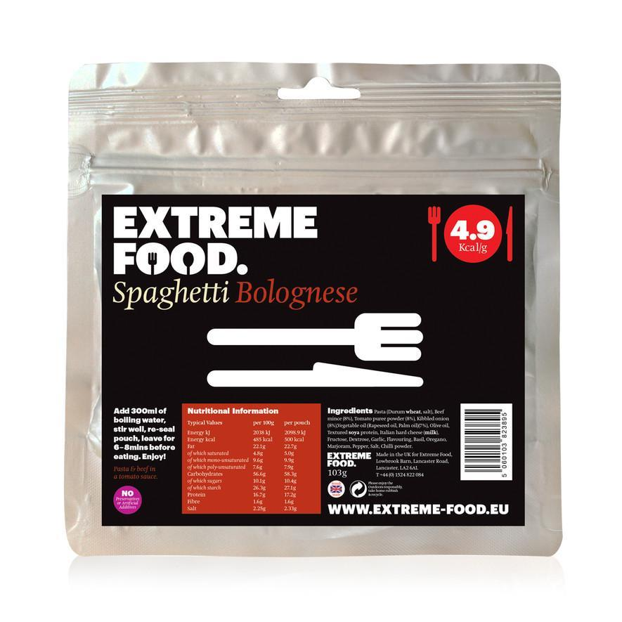 Extreme Food Spaghetti Bolognese, dried expedition food pack