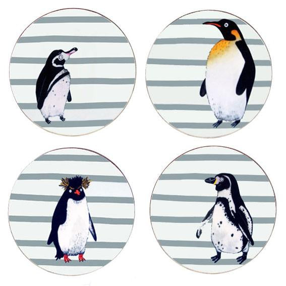 Penguin Waddle Coasters, Set of 4