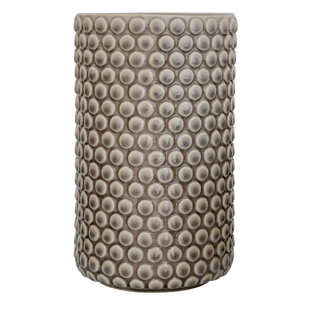 Stoneware Textured Vase, Grey