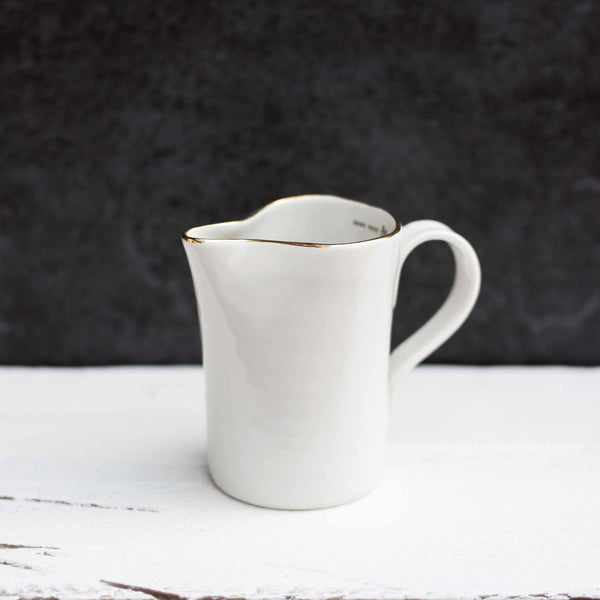 'Hand Made In England' Jug, Gold Rim