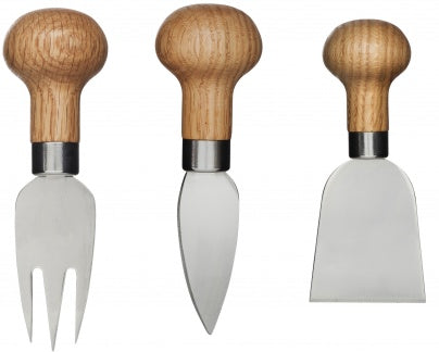 Oak Cheese Cutlery Set