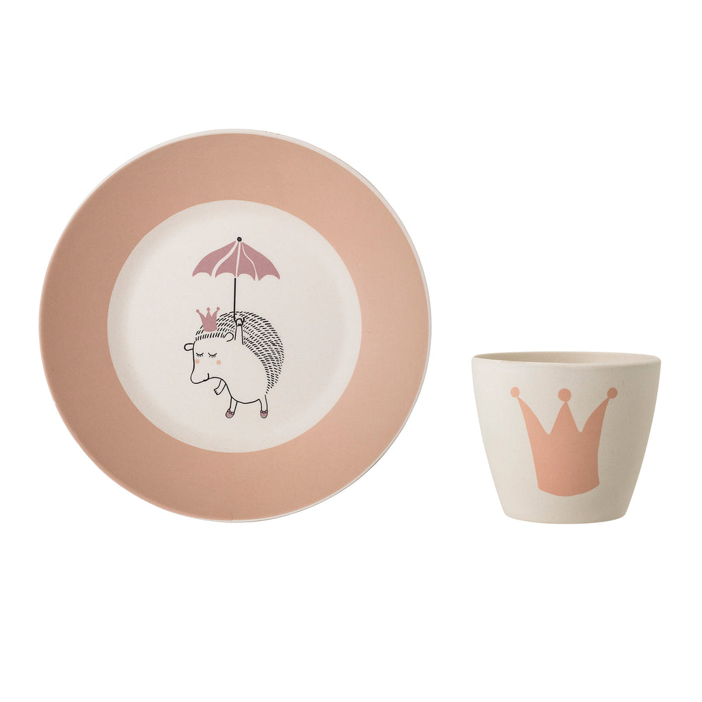 Princess Serving Set, Rose, Bamboo