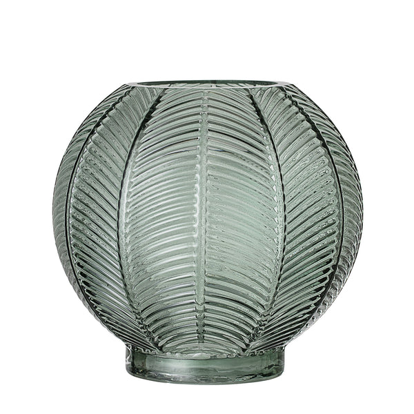 Textured Green Glass Vase