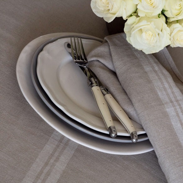 Fete Table Runner, White Stripe