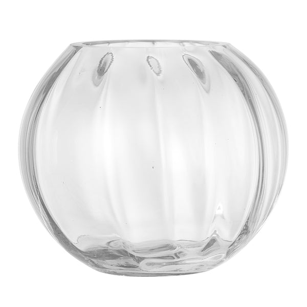 Textured Glass Vase, Clear