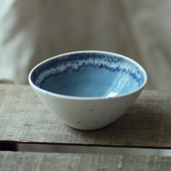 Oval Dipping Bowl, Misty Blue