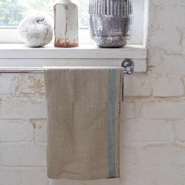 Selvedge Edge Tea Towel, French Blue