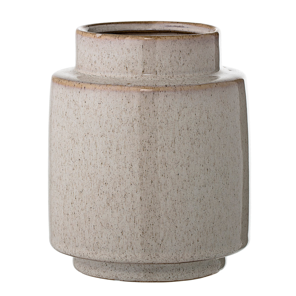 Flecked Grey Stoneware Vase
