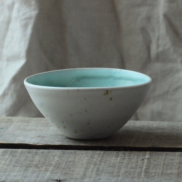 Oval Dipping Bowl, Duck Egg