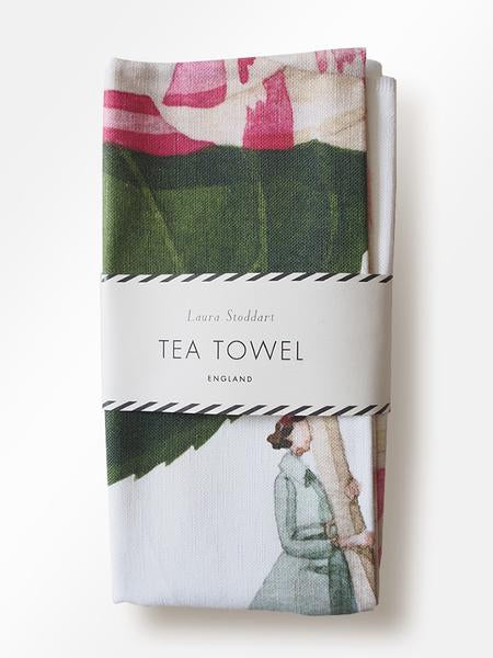 In Bloom Tea Towel, Camellia
