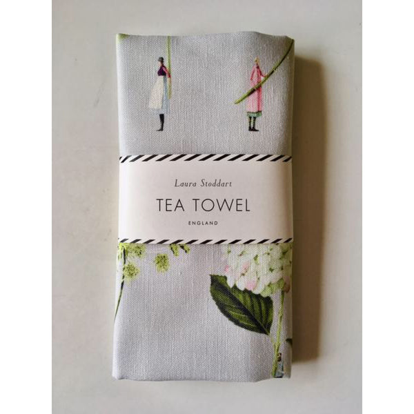 In Bloom Tea Towel, Green Flowers