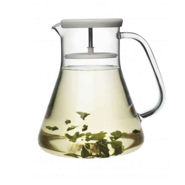 Contemporary Glass Teapot, Grey