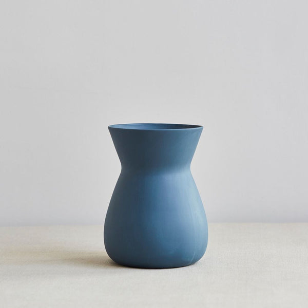 Handcrafted Betty Vase, Indigo