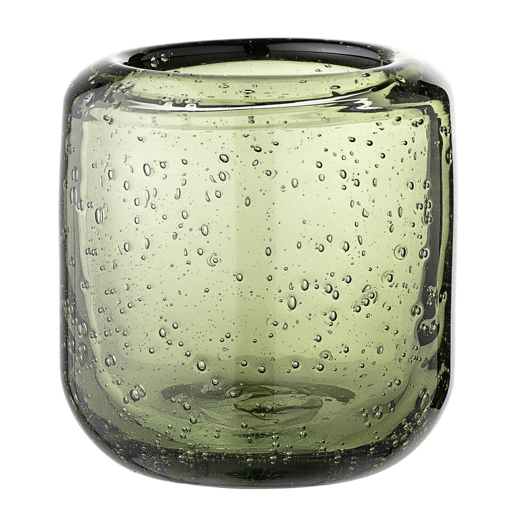 Green Glass Votive