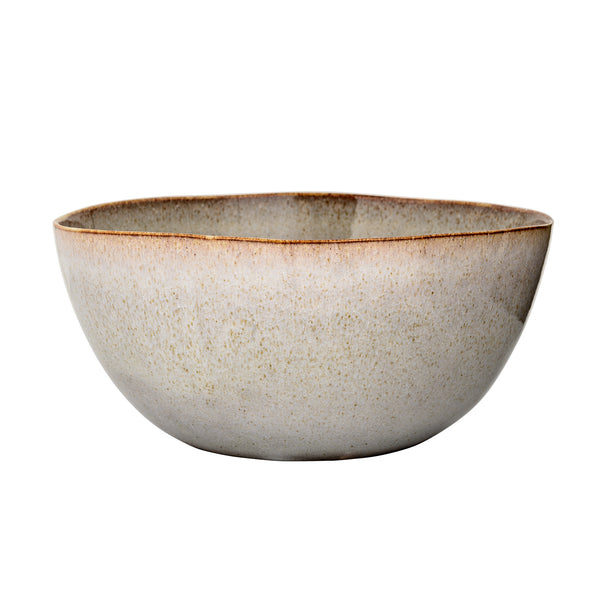 Handmade Sandrine Serving Bowl, Grey