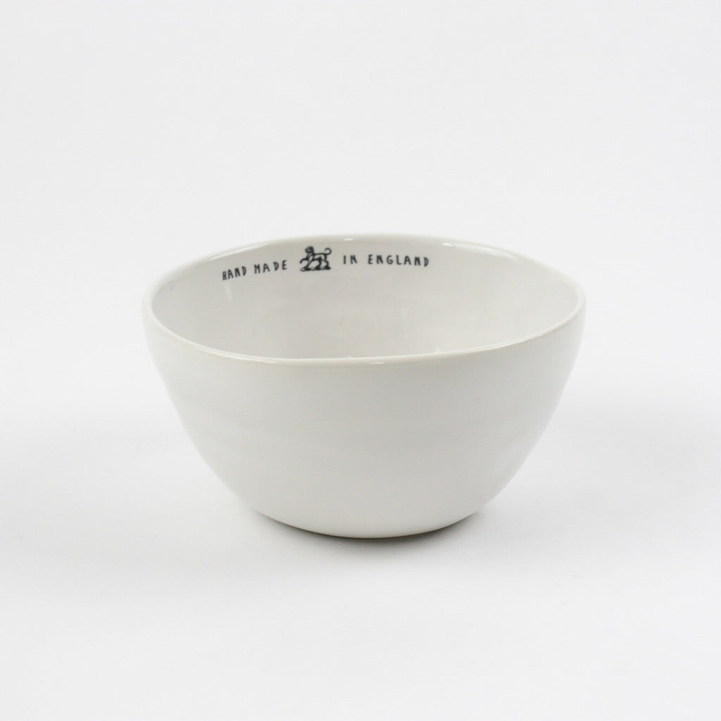 'Hand Made In England' Bowl, White