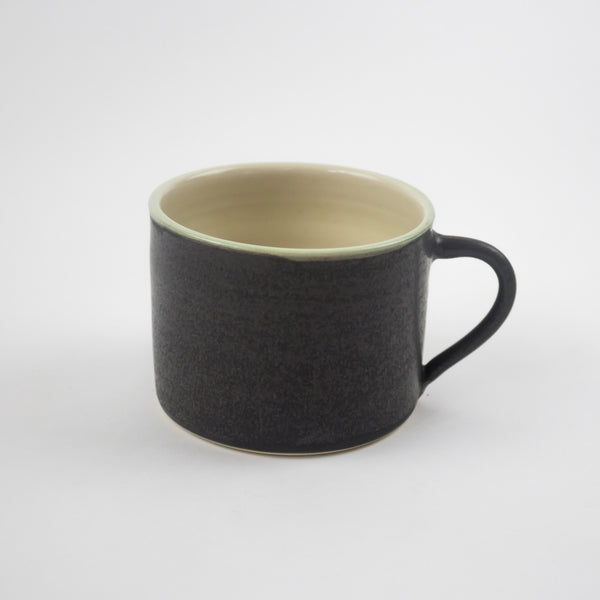 Sue Ure ceramics large charcoal hand thrown mug