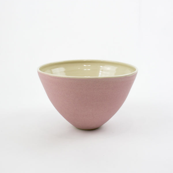Hand Thrown Riva Bowl, Pink - Large