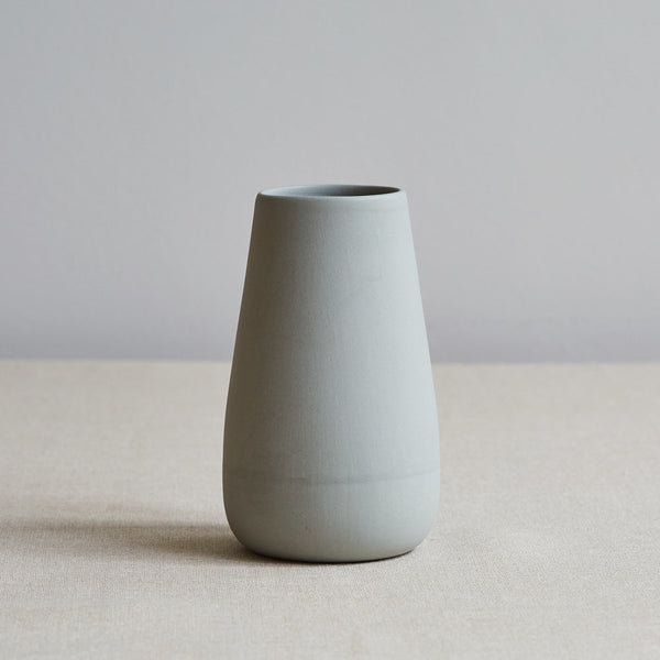 Handcrafted Eadie Vase, Pale Grey