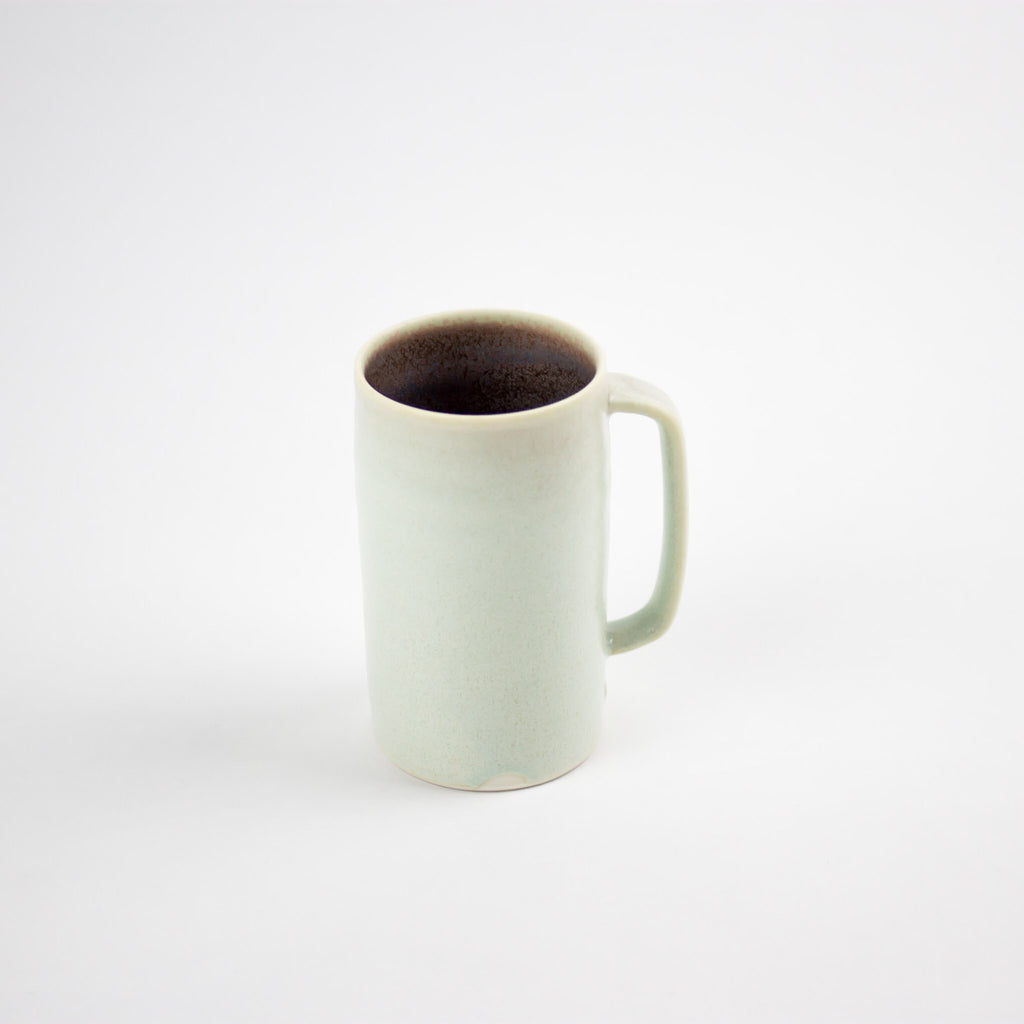 Tall Straight Up Coffee Mug, Aqua/Damson