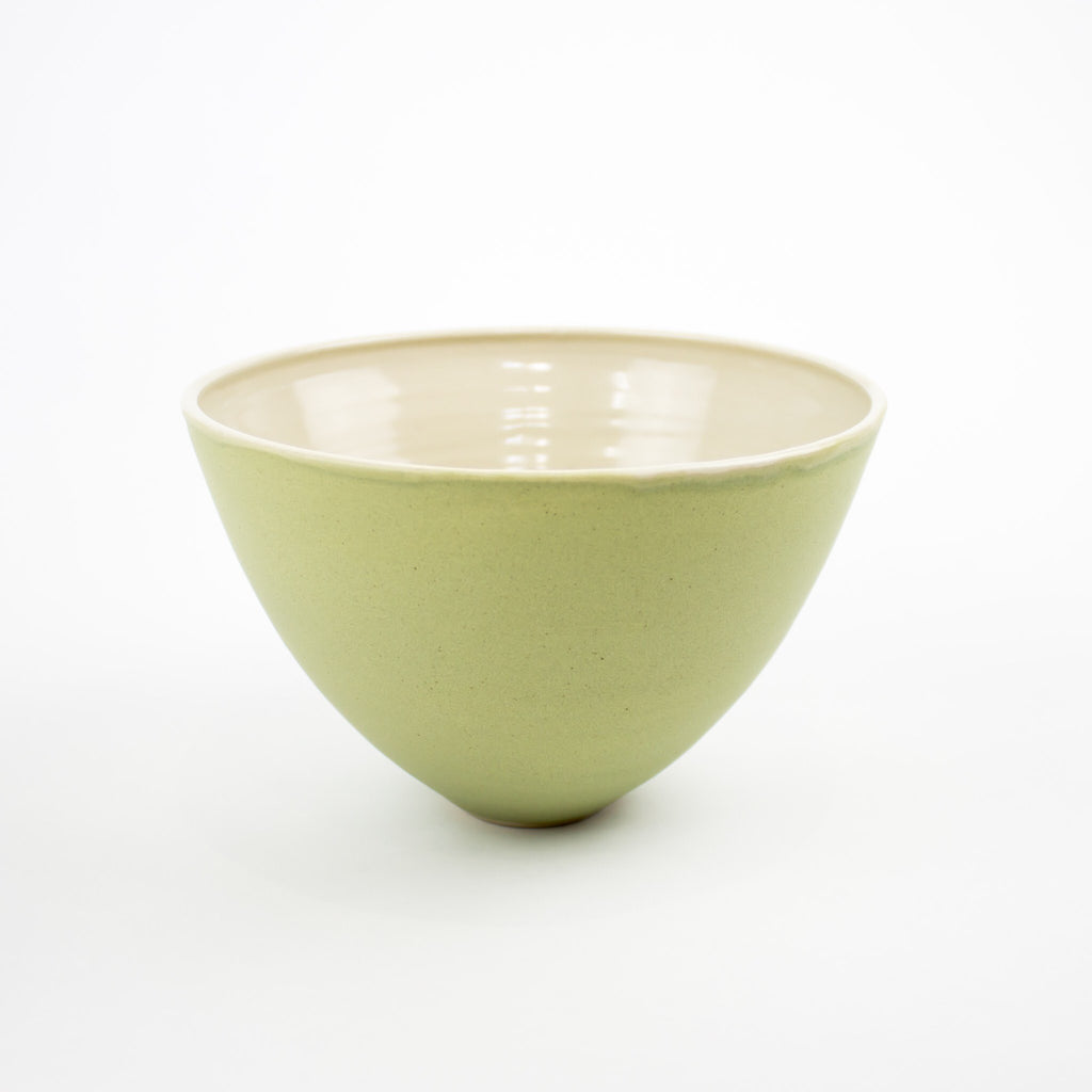 Hand Thrown Riva Bowl, Pistachio