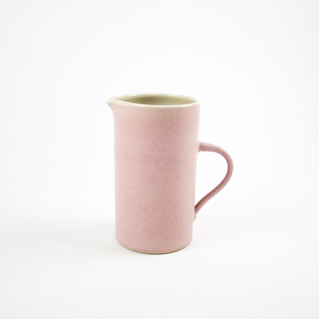 Hand Thrown Tall Jug, Pink