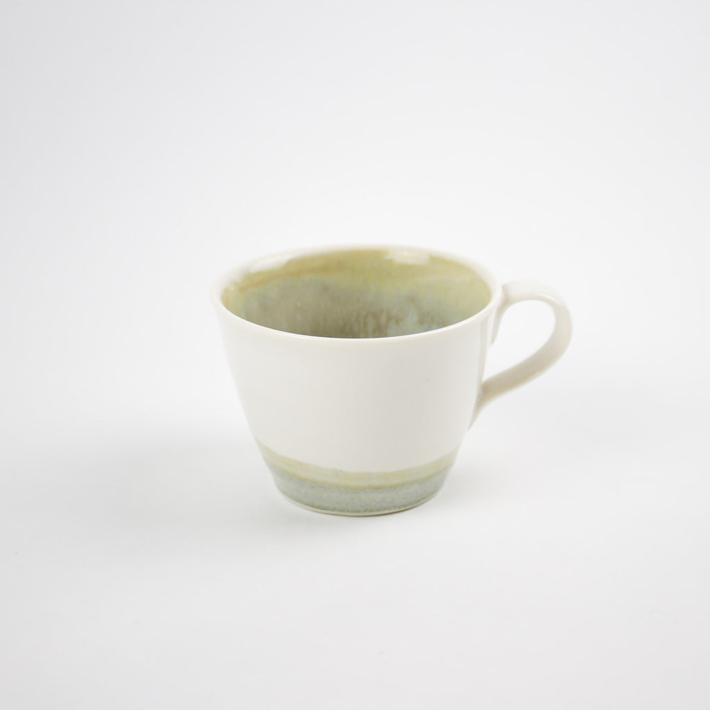 Hand Thrown Espresso Cup, Cloud/White