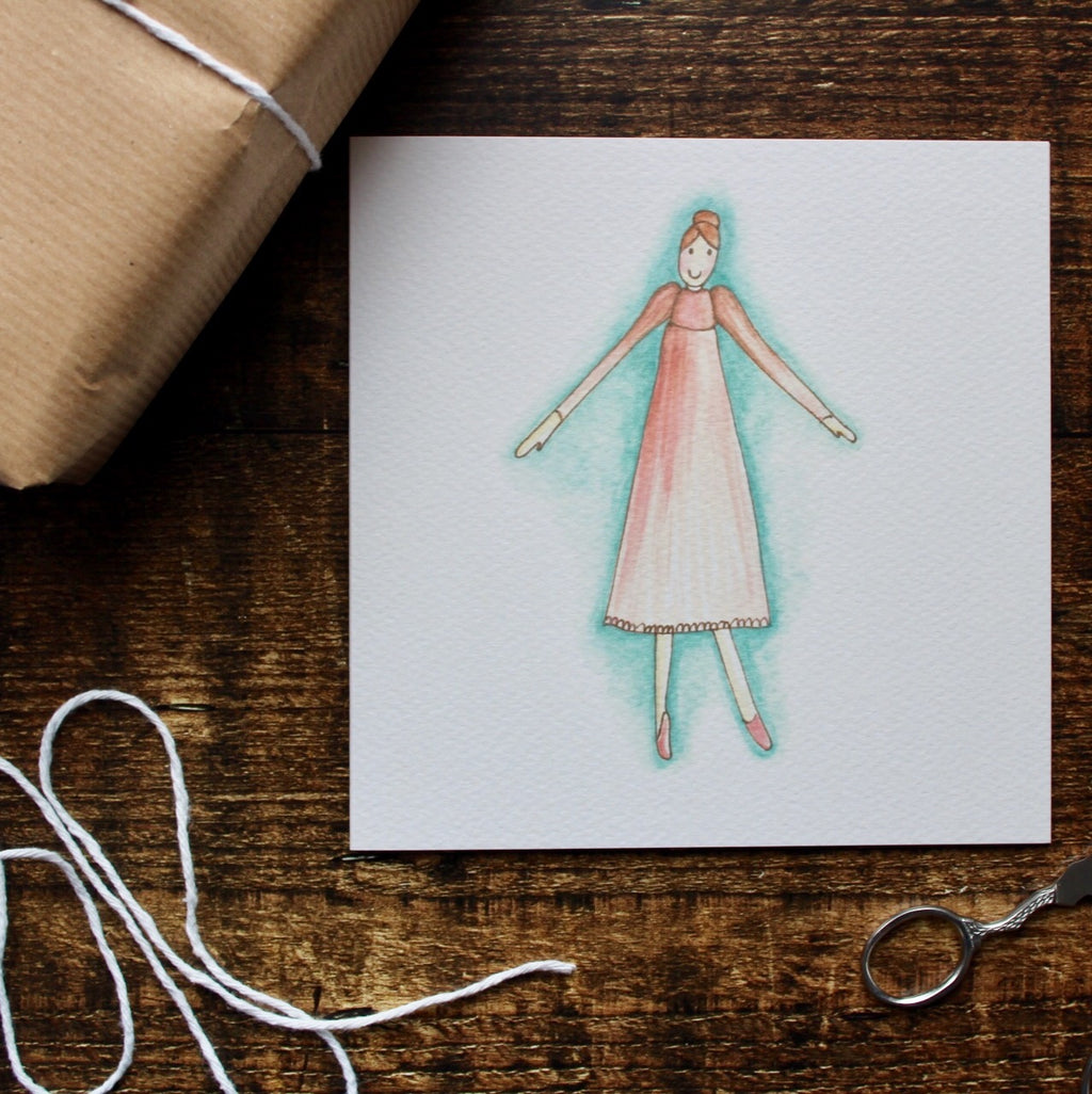 Rag Doll Card, Blank