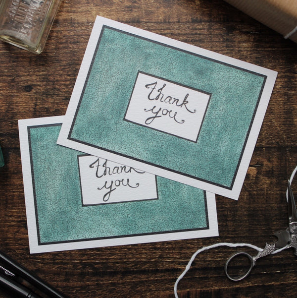 Jade Thank You Cards, Pack of 5