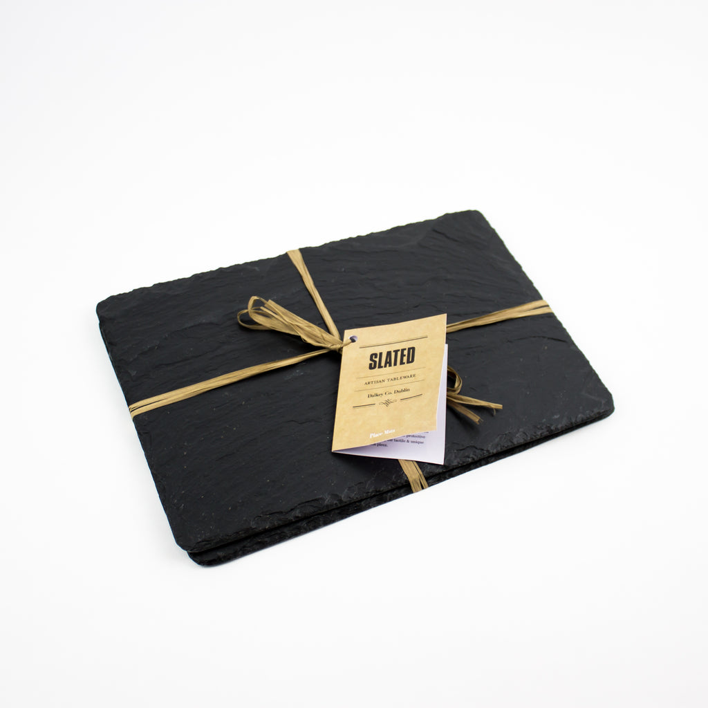 Hand Cut Slate Placemats, Boxed Set of 2