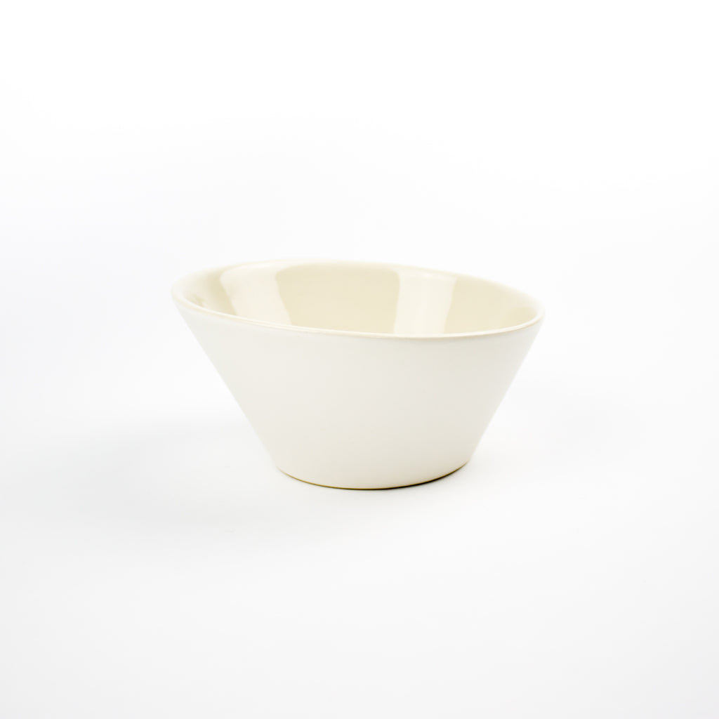 Handcrafted Matt White Breakfast/Soup Bowl